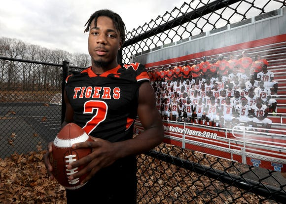 Spring Valley's Jayden Cook, Rockland Football Player of the Year Dec. 3, 2018.