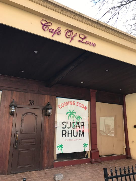 Sugar Rhum is coming to the old Cafe of Love space in Mount Kisco sometime in early 2019.  Photographed Nov. 28, 2018.