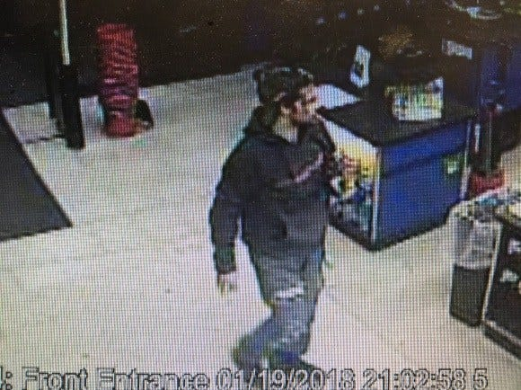 In January, this man stole approximately $121 worth of parts from a local automotive repair store, police say.