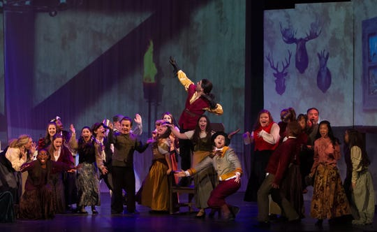 """Beauty and the Beast's"" brightest moments are during its big ensemble numbers. The production runs at The Wichita Theatre through Dec. 15."