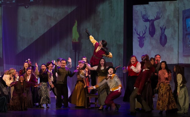 """""""Beauty and the Beast's"""" brightest moments are during its big ensemble numbers. The production runs at The Wichita Theatre through Dec. 15."""