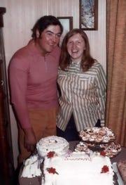 Bob Manzke and Susan at their wedding shower.