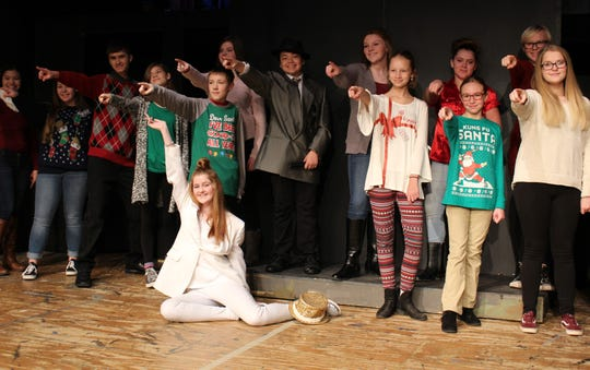 Teens and tweens rehearse for the 27th annual Angel Tree Benefit show this weekend at the Renner Theatre.