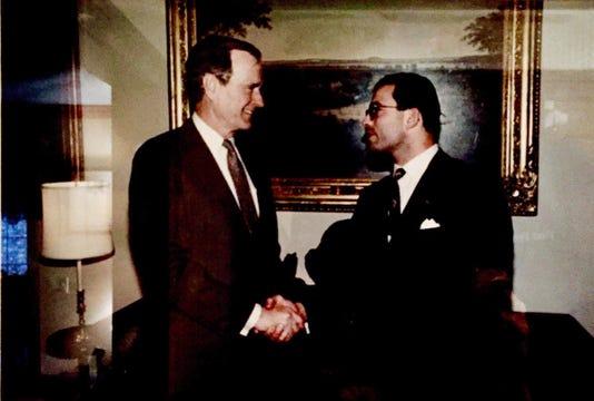 Bush Handshake