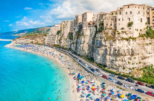 Tropea Panoramic View Calabria Italy