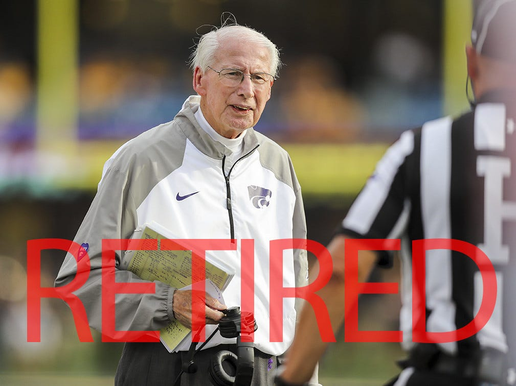 Bill Snyder announced his retirement after 27 seasons at Kansas State. Snyder posted a 215-117-1 record from 1989-2005 then from 2009-2018.