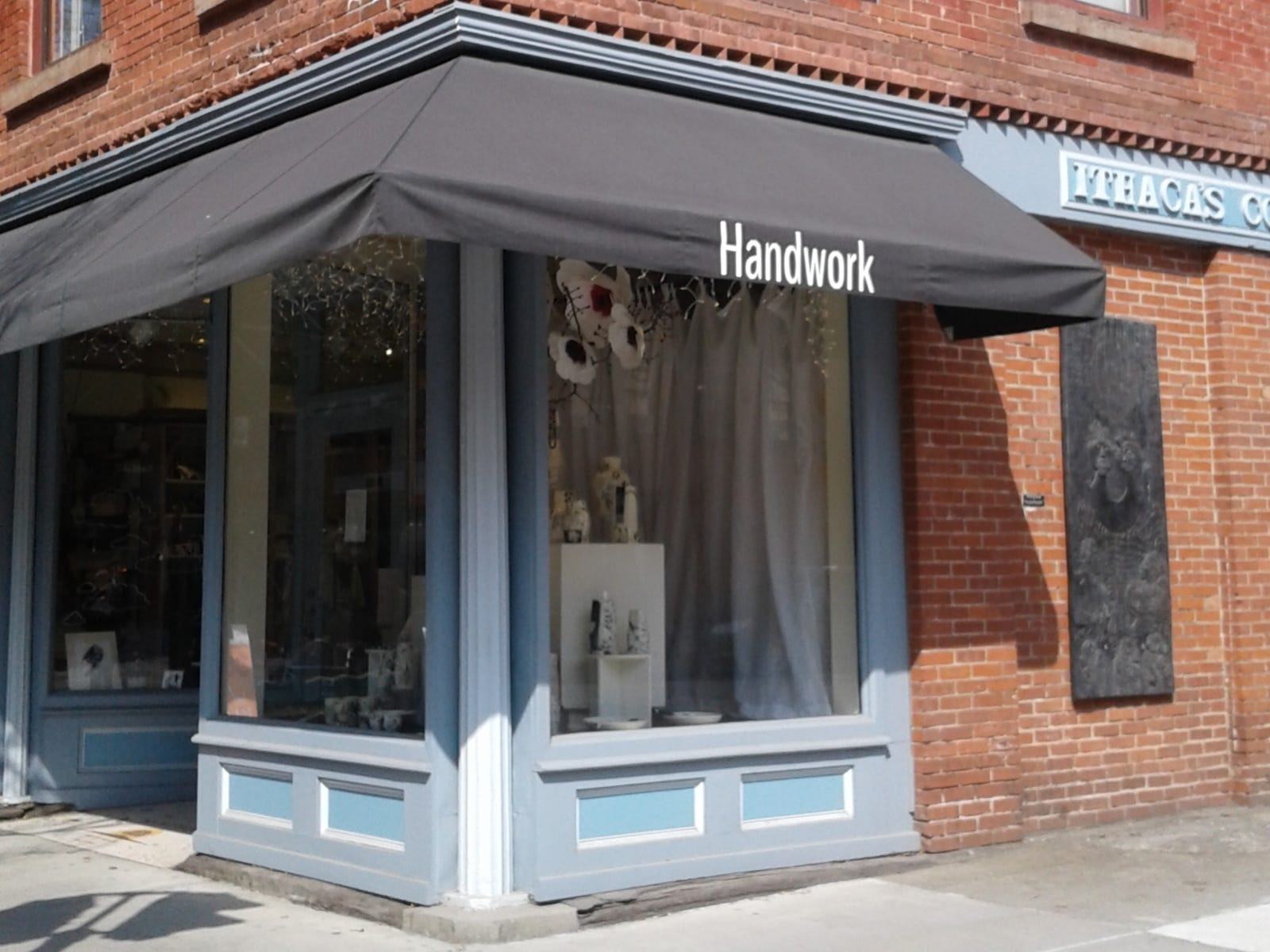 The three-story Handwork store in downtown Ithaca, New York, features a wide range of offerings.