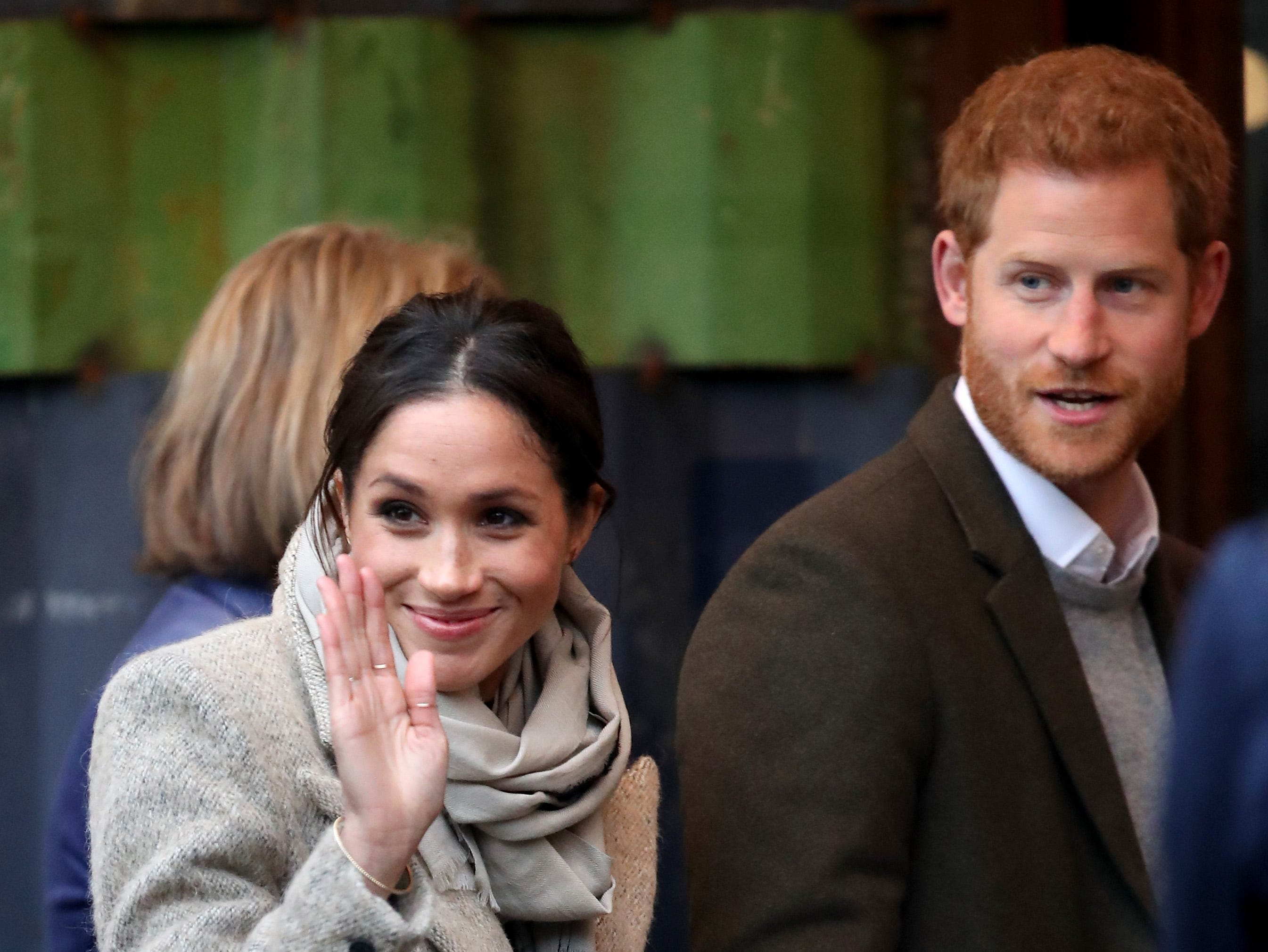 Jan. 9: Prince Harry and then-fiancee Meghan Markle visit a radio station in London.