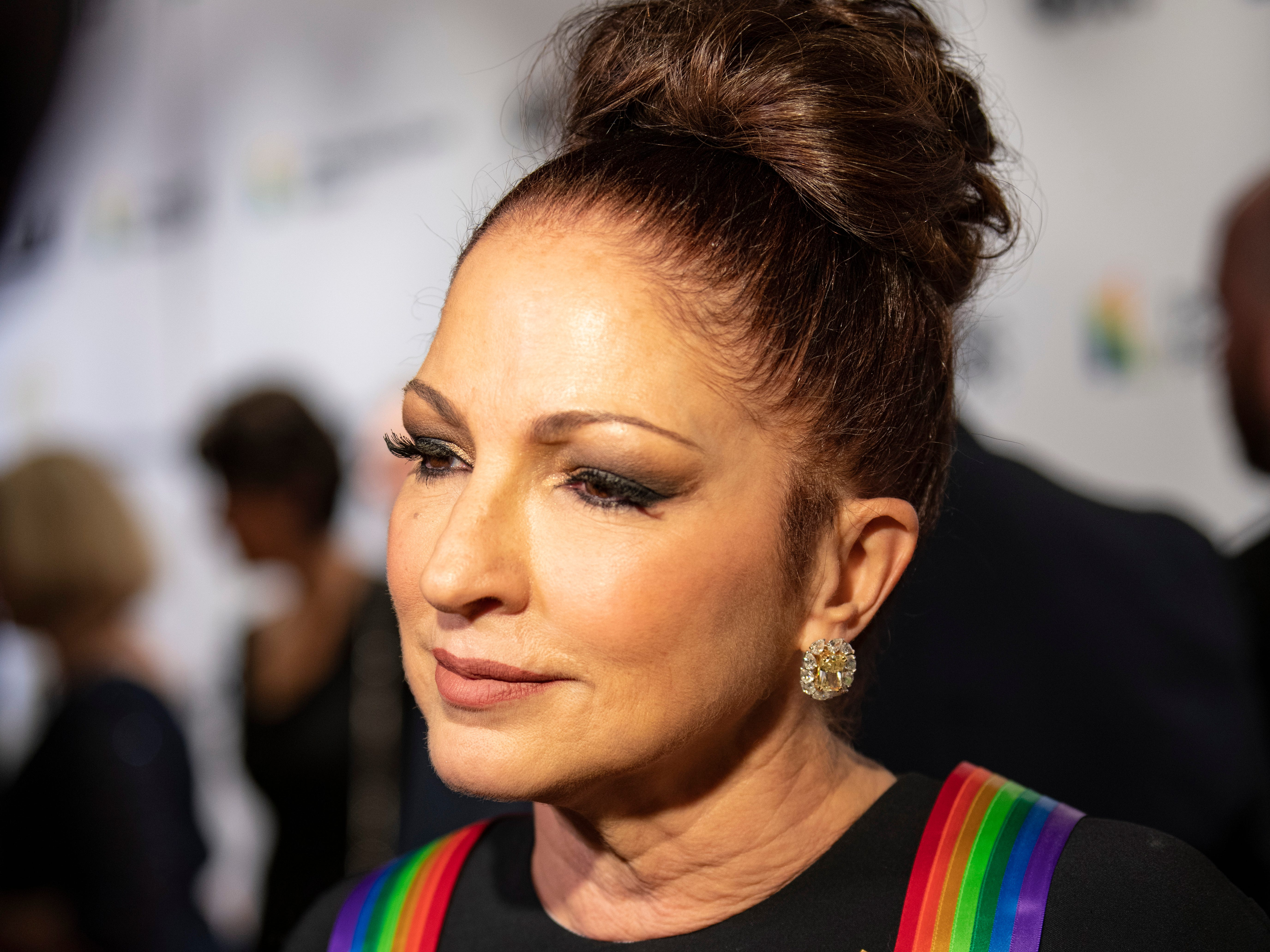{Dec. 2, 2018} {8:41 p.m.} -- Washington, DC, U.S.A  -- Singer and 2017 Kennedy Center Honors awardee Gloria Estefan hosted the presentation of the 2018 honors.  --    Photo by Hannah Gaber, USA TODAY staff ORG XMIT:  HG 137674 Kennedy Center H 12/2/2018 [Via MerlinFTP Drop]