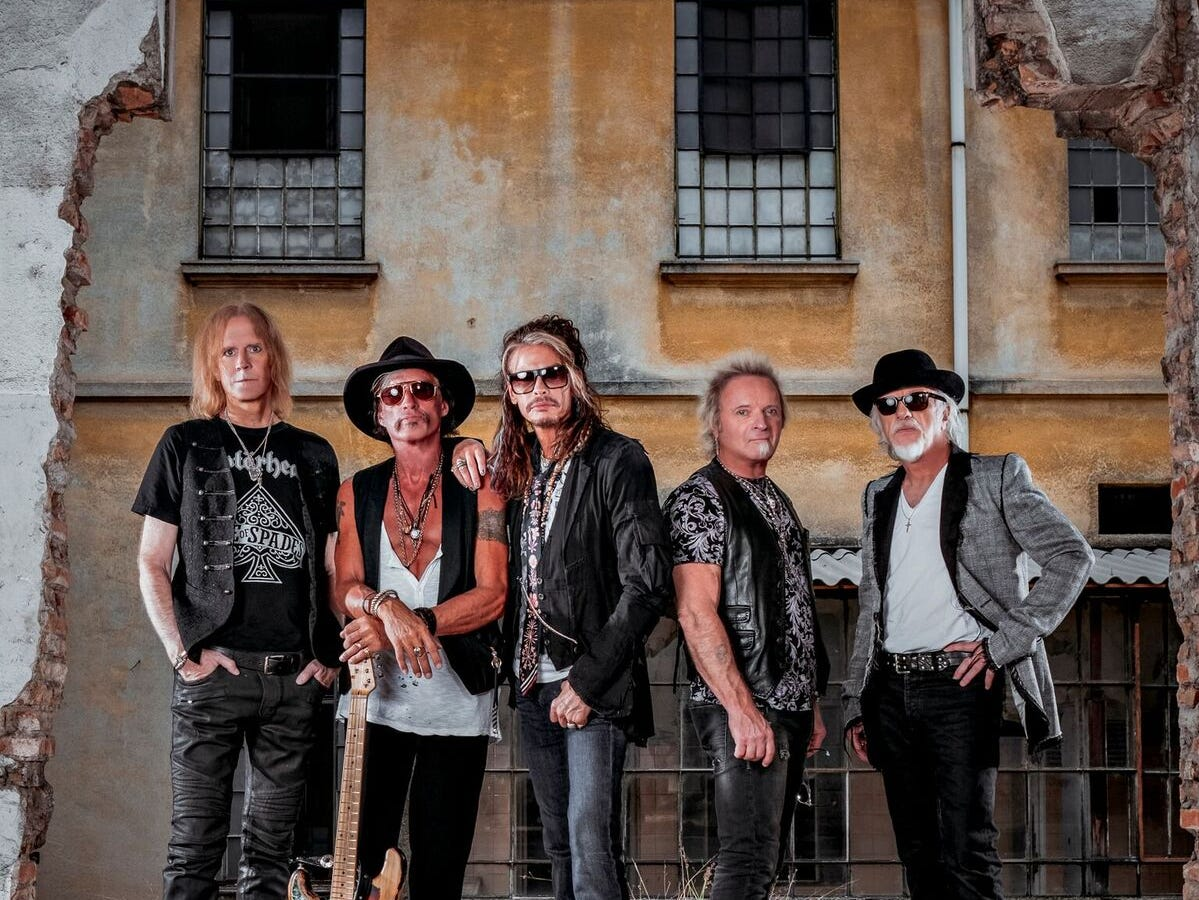 Aerosmith begins an 18-show residency at the Park Theater at the Park MGM resort in Las Vegas in April 2019.