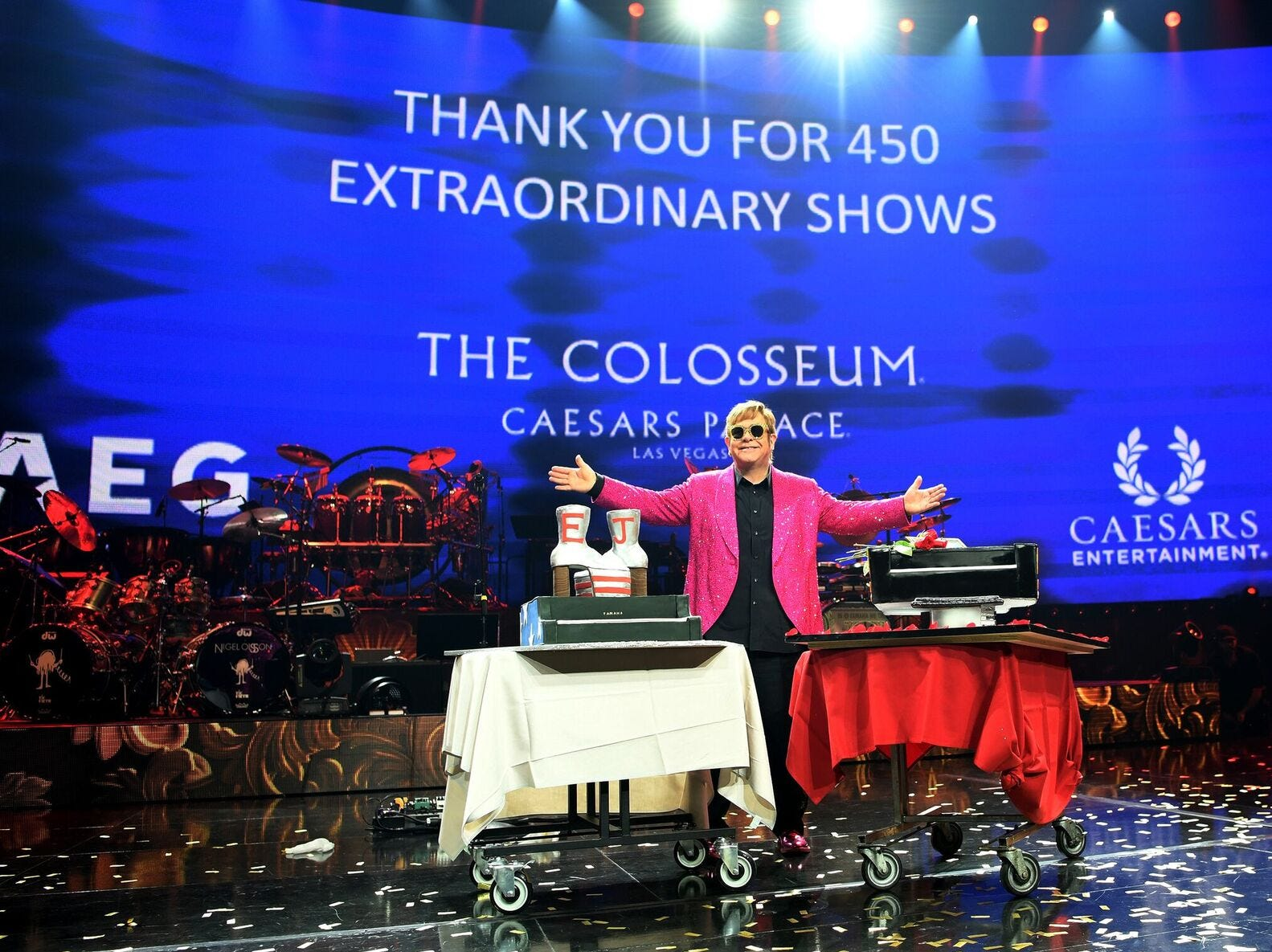 Elton John ended a long running residency at The Colosseum at Caesars Palace in 2018. He performed 450 shows.