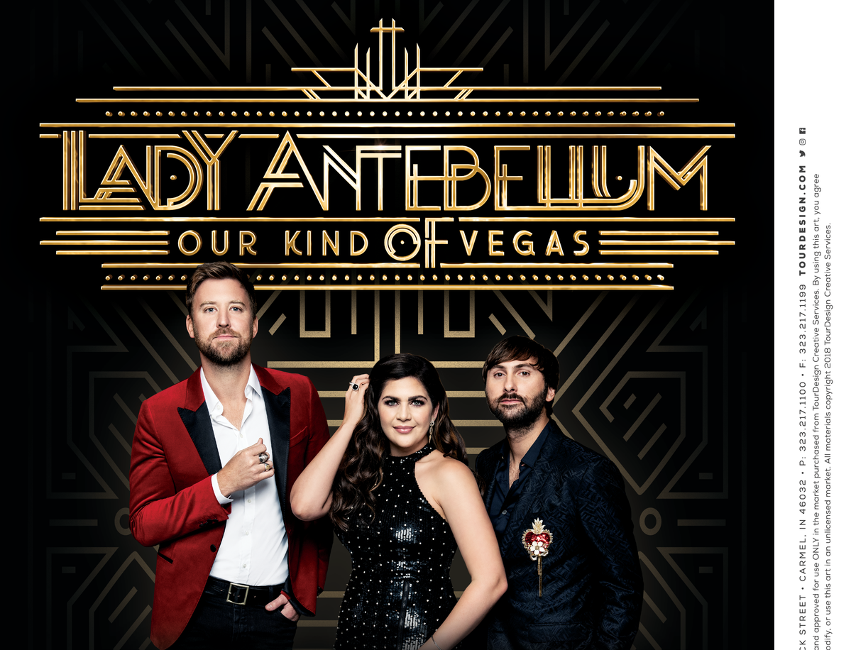 Country music trio Lady Antebellum begins a residency at The Palms Casino Resort in February 2019.