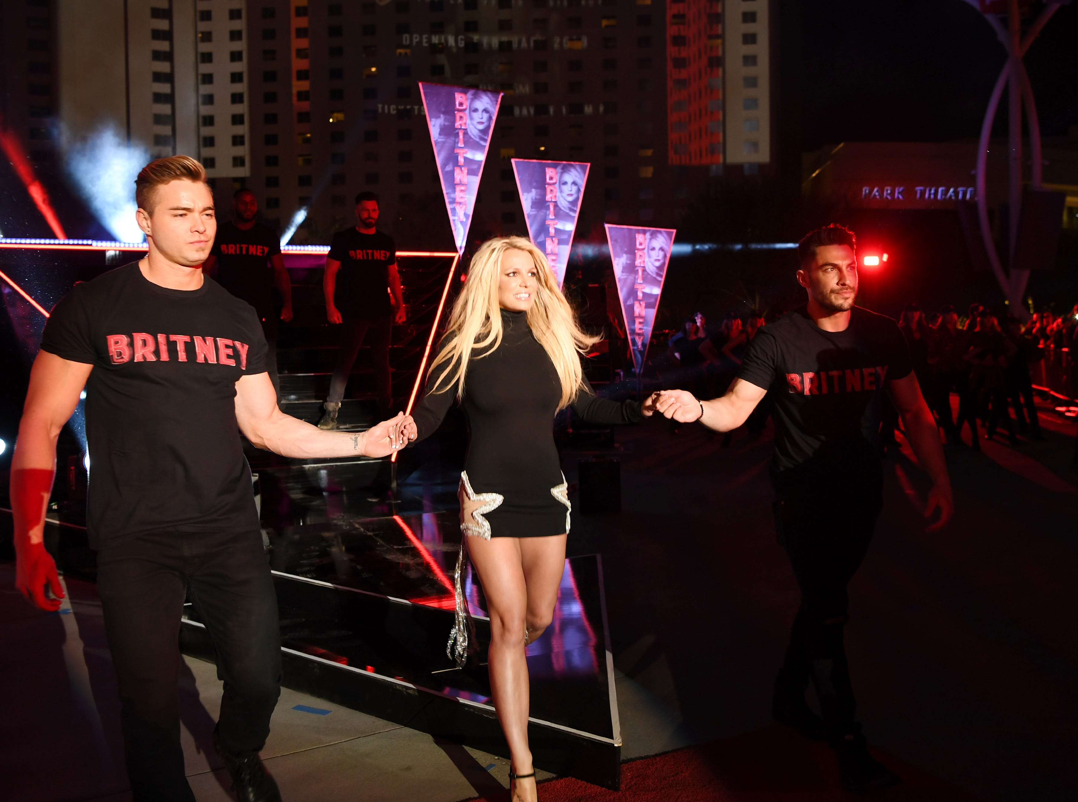 Britney Spears at the announcement of her new concert residency at the Park Theater at Park MGM resort. Shows begin  Feb. 13, 2019.