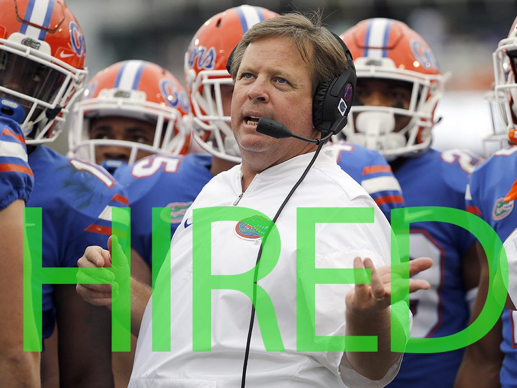 Jim McElwain was hired by Central Michigan. McElwain previously coached Colorado State and Florida, compiling a 44-28 record over parts of six seasons.
