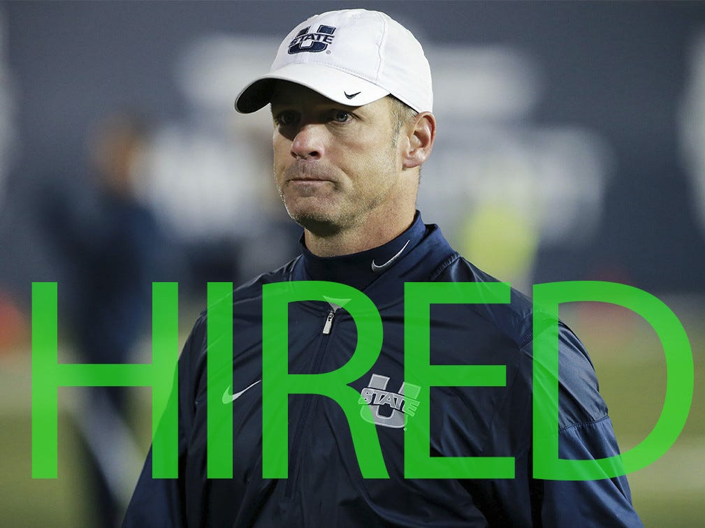 Matt Wells was hired by Texas Tech. Wells went 44-34 in six seasons at Utah State.