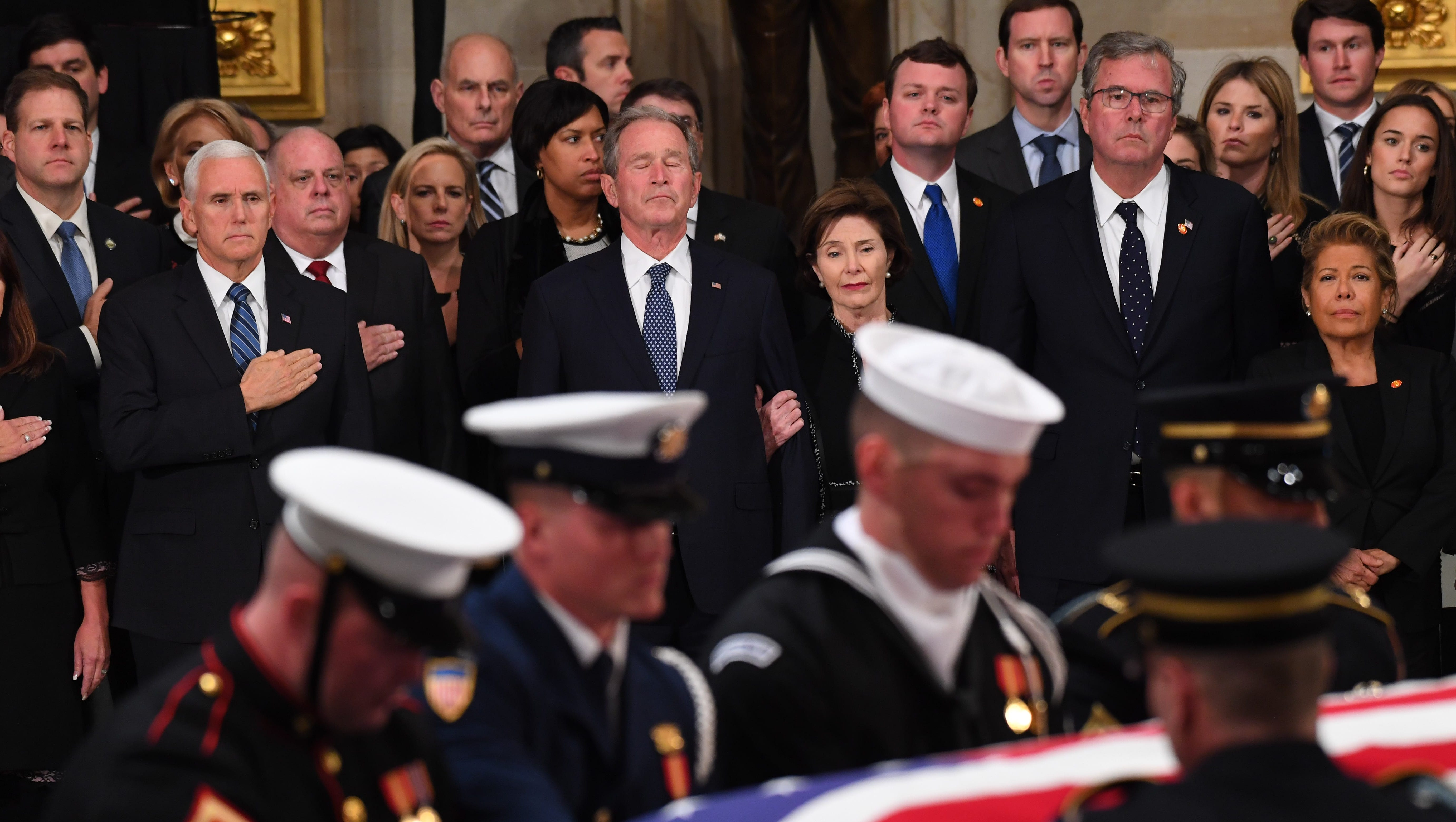 George H W Bush Funeral Nation Says Goodbye To 41st President
