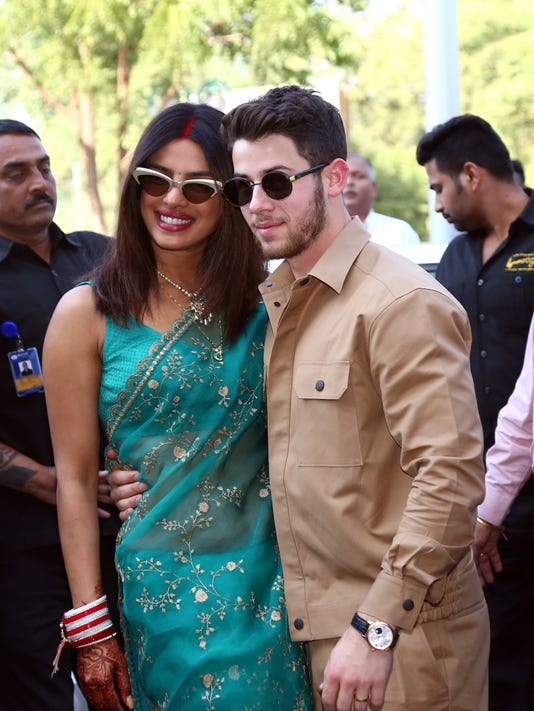 Priyanka Chopra, Nick Jonas step out as newlyweds after
