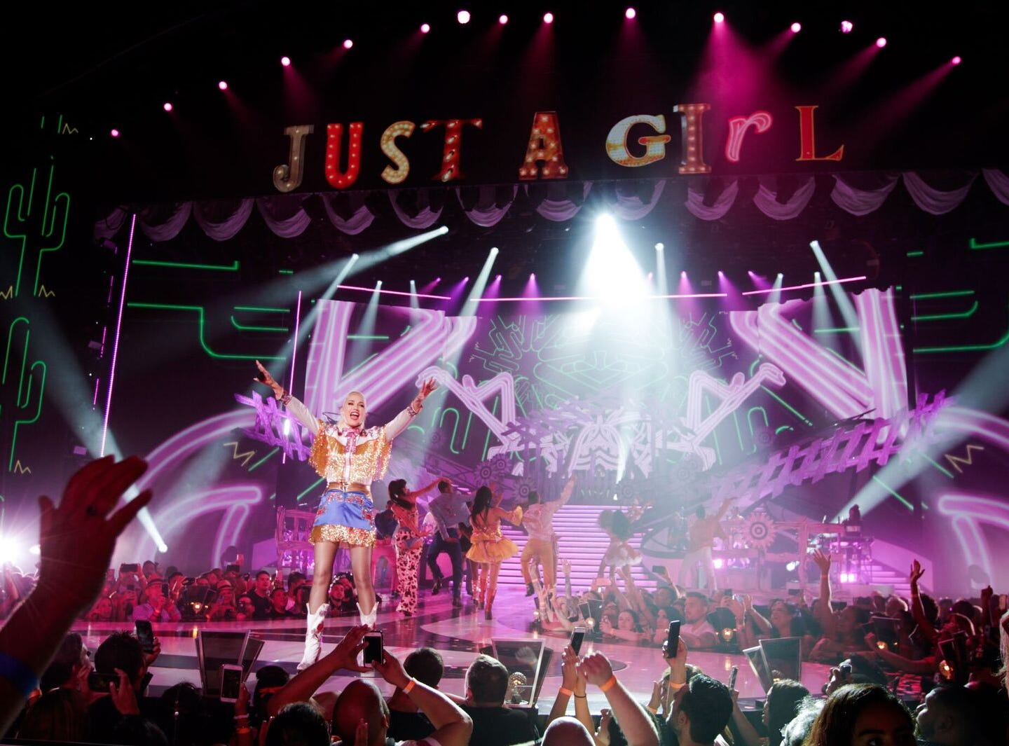 """Gwen Stefani performs at her """"Just a Girl'' show at Planet Hollywood Resort & Casino in Las Vegas."""