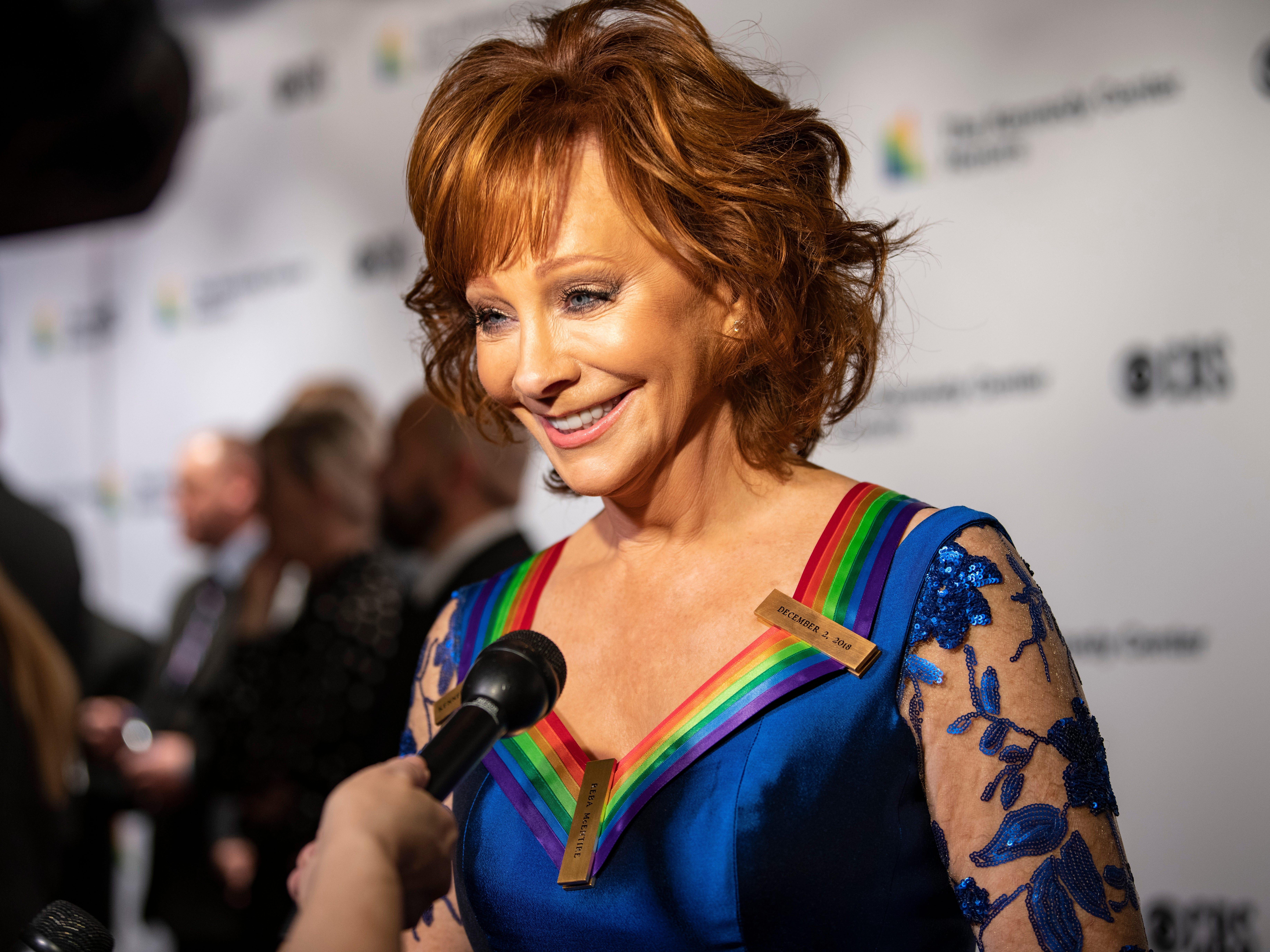 {Dec. 2, 2018} {8:41 p.m.} -- Washington, DC, U.S.A  -- Singer, actress, and Broadway veteran Reba McEntire was among the recipients of the 2018 Kennedy Center Honors.  --    Photo by Hannah Gaber, USA TODAY staff ORG XMIT:  HG 137674 Kennedy Center H 12/2/2018 [Via MerlinFTP Drop]