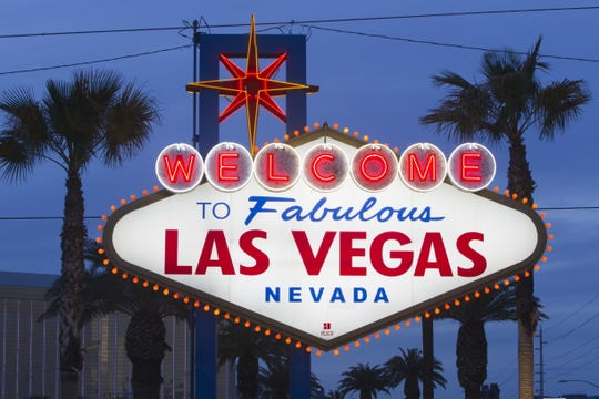 "A view of the ""Welcome to Las Vegas"" sign in Las Vegas."