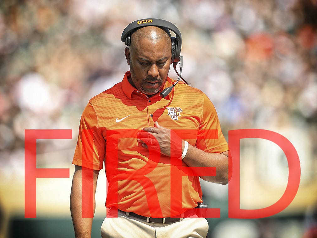 Mike Jinks was fired by Bowling Green following a 1-6 start. He went 7-24 over parts of three seasons.