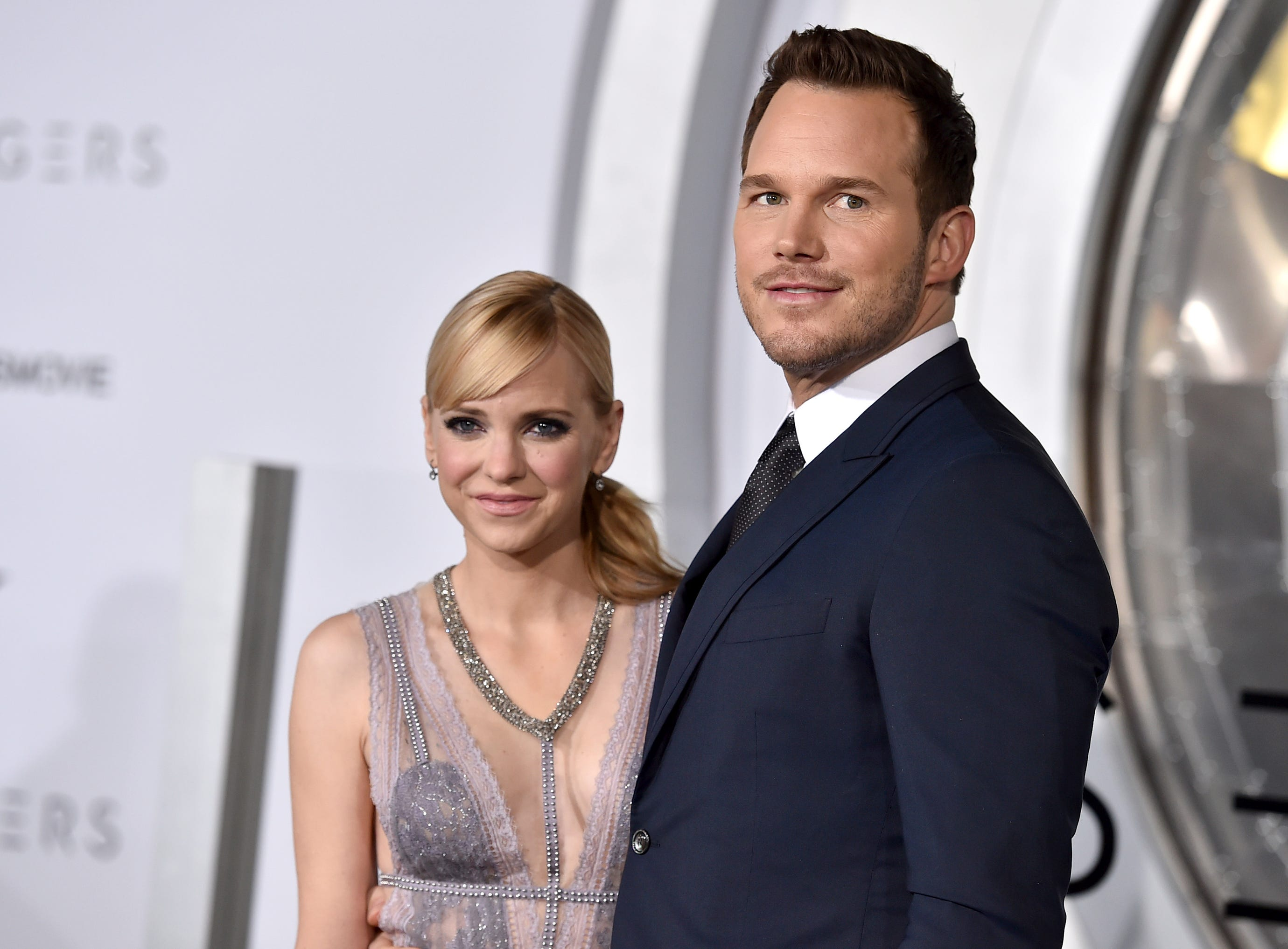 "FILE- In this Dec. 14, 2016, file photo, Chris Pratt, right, and Anna Faris arrive at the Los Angeles premiere of ""Passengers""at the Village Theatre Westwood. Pratt and Faris have announced they are separating after eight years of marriage. The actors announced their breakup on social media Sunday, Aug. 6, 2017, in a joint statement confirmed by Pratt's publicist. (Photo by Jordan Strauss/Invision/AP, File) ORG XMIT: NYJK110"