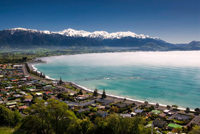 "Airbnb rated the hot destinations for 2019 according to booking and search activity on its site.  No. 1 is Kaikoura, New Zealand, which saw a 295 percent increase in bookings year over year, and a 210% rise in searches. Says Airbnb, ""Heavily damaged by a 7.8 earthquake in 2016, this coastal town on the South Island is staging a marvelous comeback with the strongest increase in both bookings and search on our list. With train and other transportation services coming back online, avid whale- and seal-watchers will find it easier and easier to experience the town's notable sperm whale population and historic whaling past."""