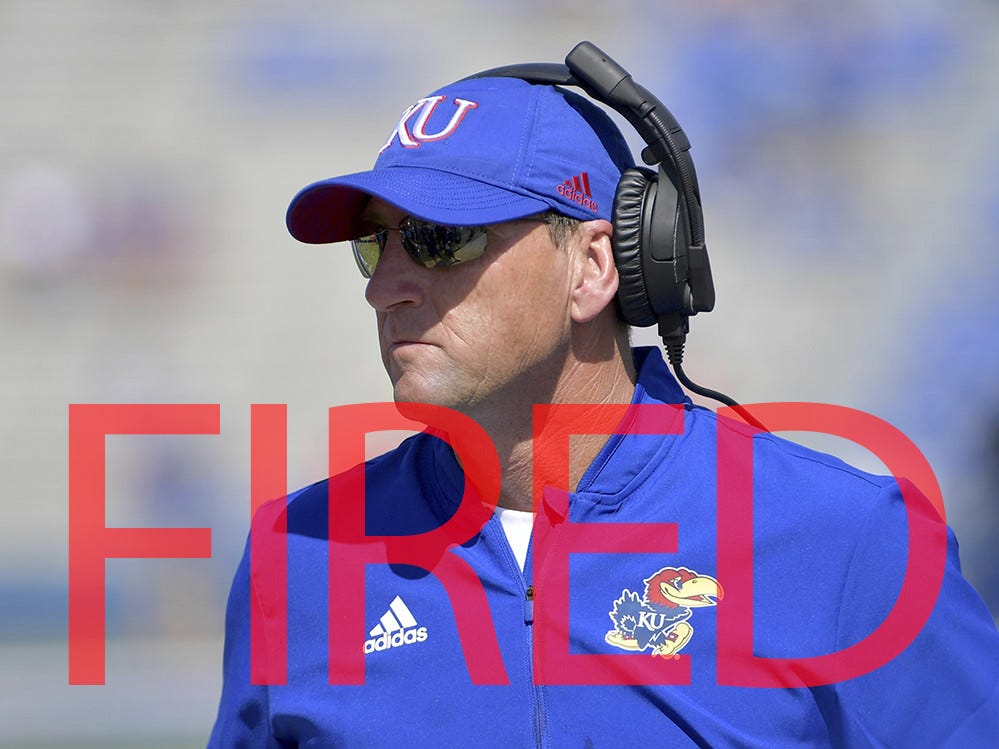 David Beaty was fired by Kansas. He went 6-42 in four seasons.