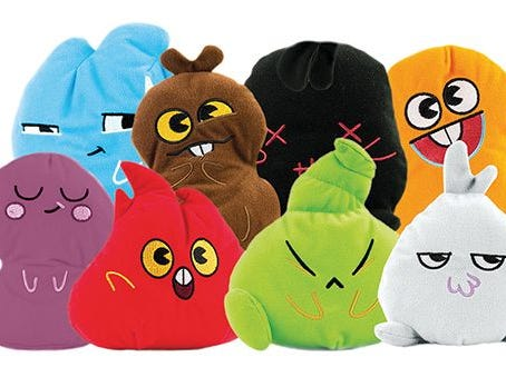 Stink Bomz are collectible plush characters with funky smells.