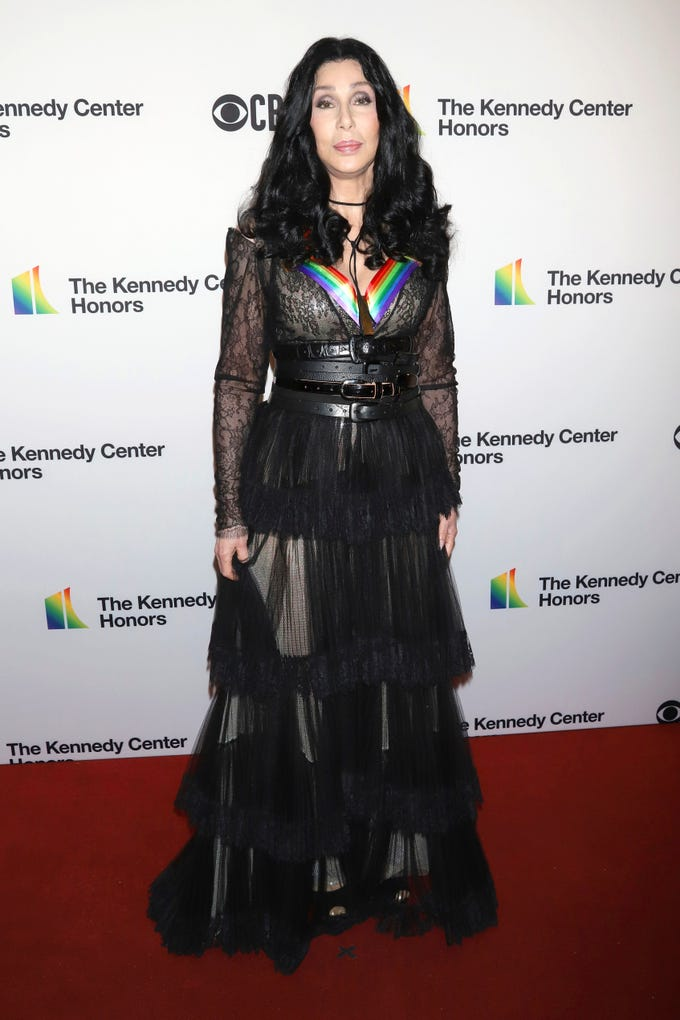 2018 Kennedy Center honoree Cher attends the 41st Annual Kennedy Center Honors at The Kennedy Center on Sunday, Dec. 2, 2018, in Washington. (Photo by Greg Allen/Invision/AP) ORG XMIT: NYGA112
