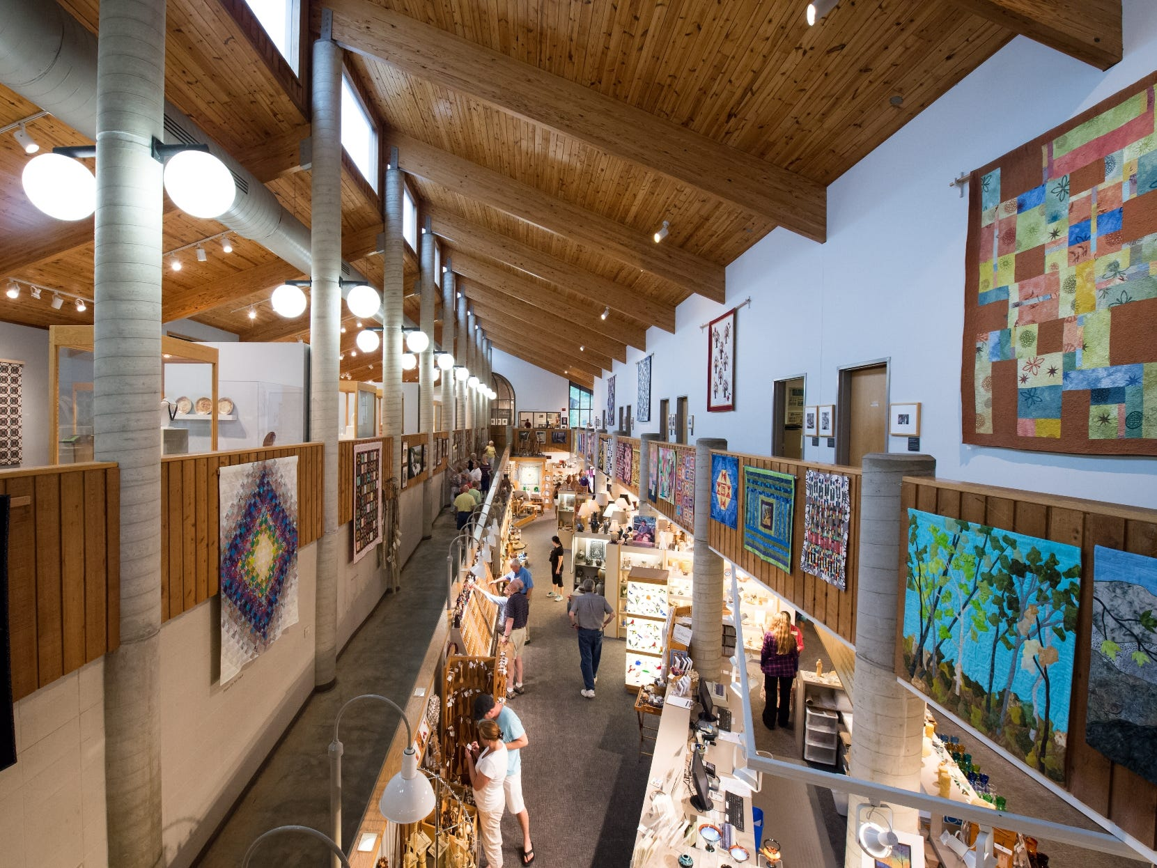 The North Carolina Folk Art Center in Asheville offers visitors a full Appalachian immersion with a museum, hiking, and daily craft demonstrations.