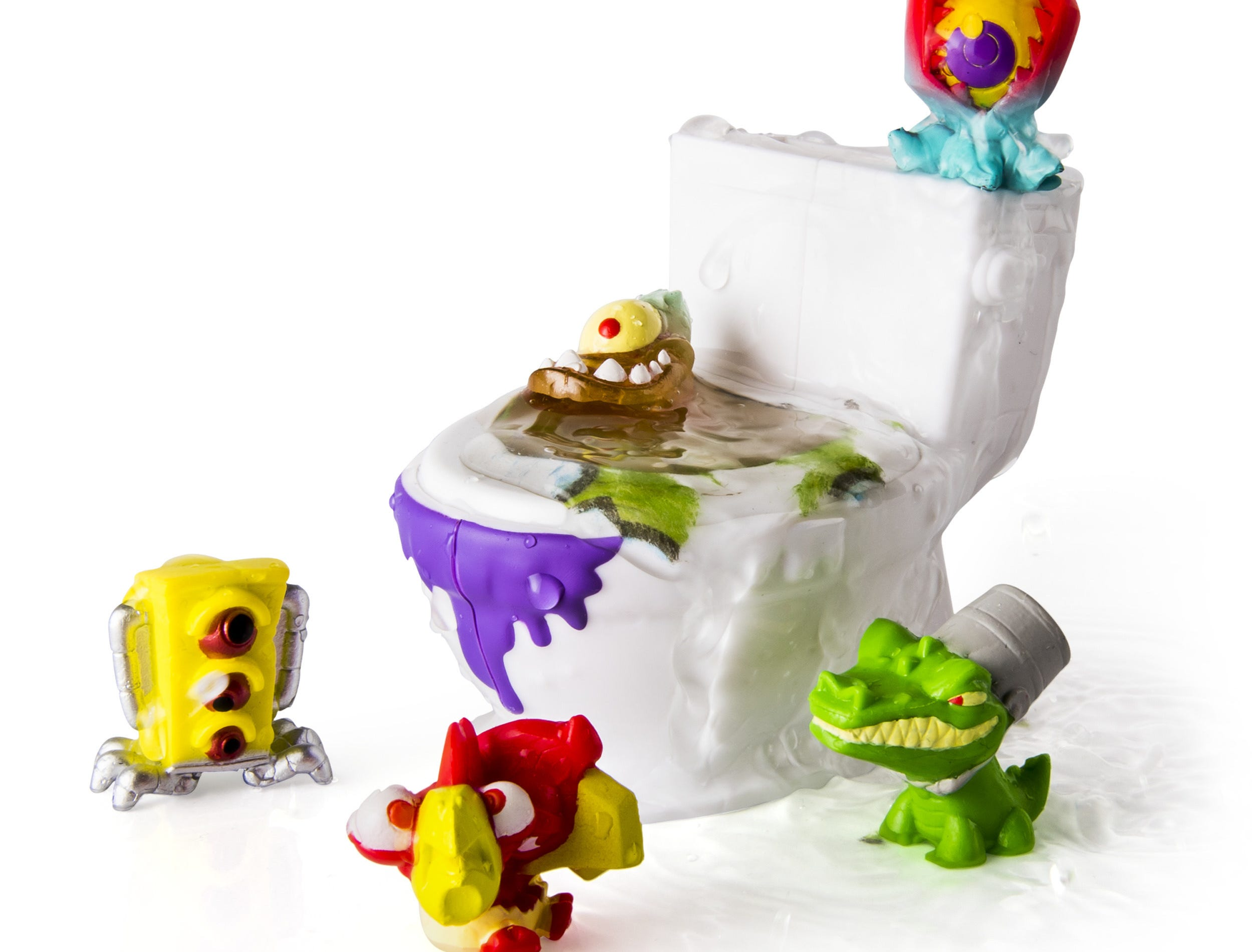 Flush Force creatures come from deep inside the bowels of Flushville and have been mutated by toxic sludge.