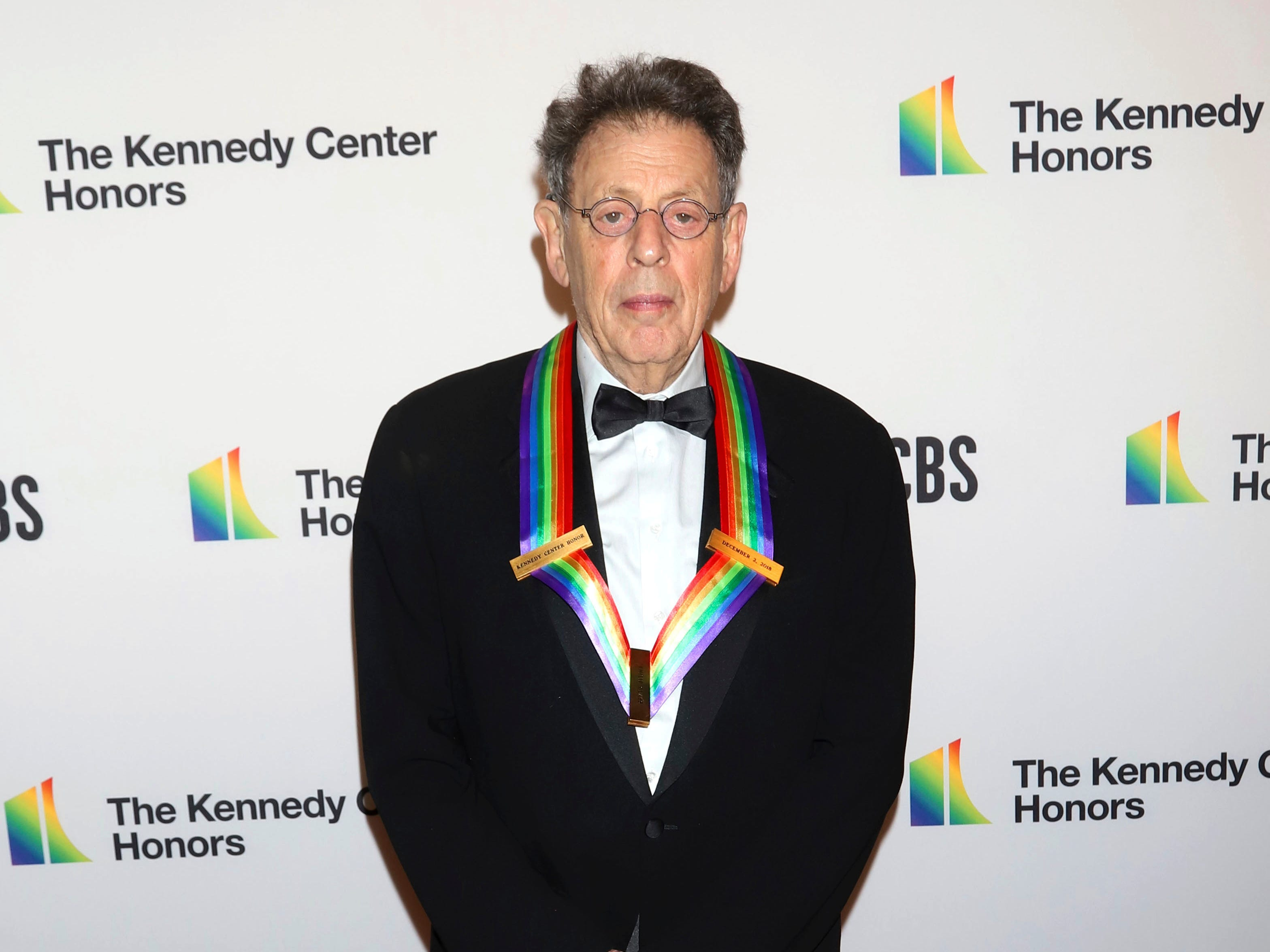 2018 Kennedy Center Honoree Philip Glass attends the 41st Annual Kennedy Center Honors at The Kennedy Center on Sunday, Dec. 2, 2018, in Washington. (Photo by Greg Allen/Invision/AP) ORG XMIT: NYGA102