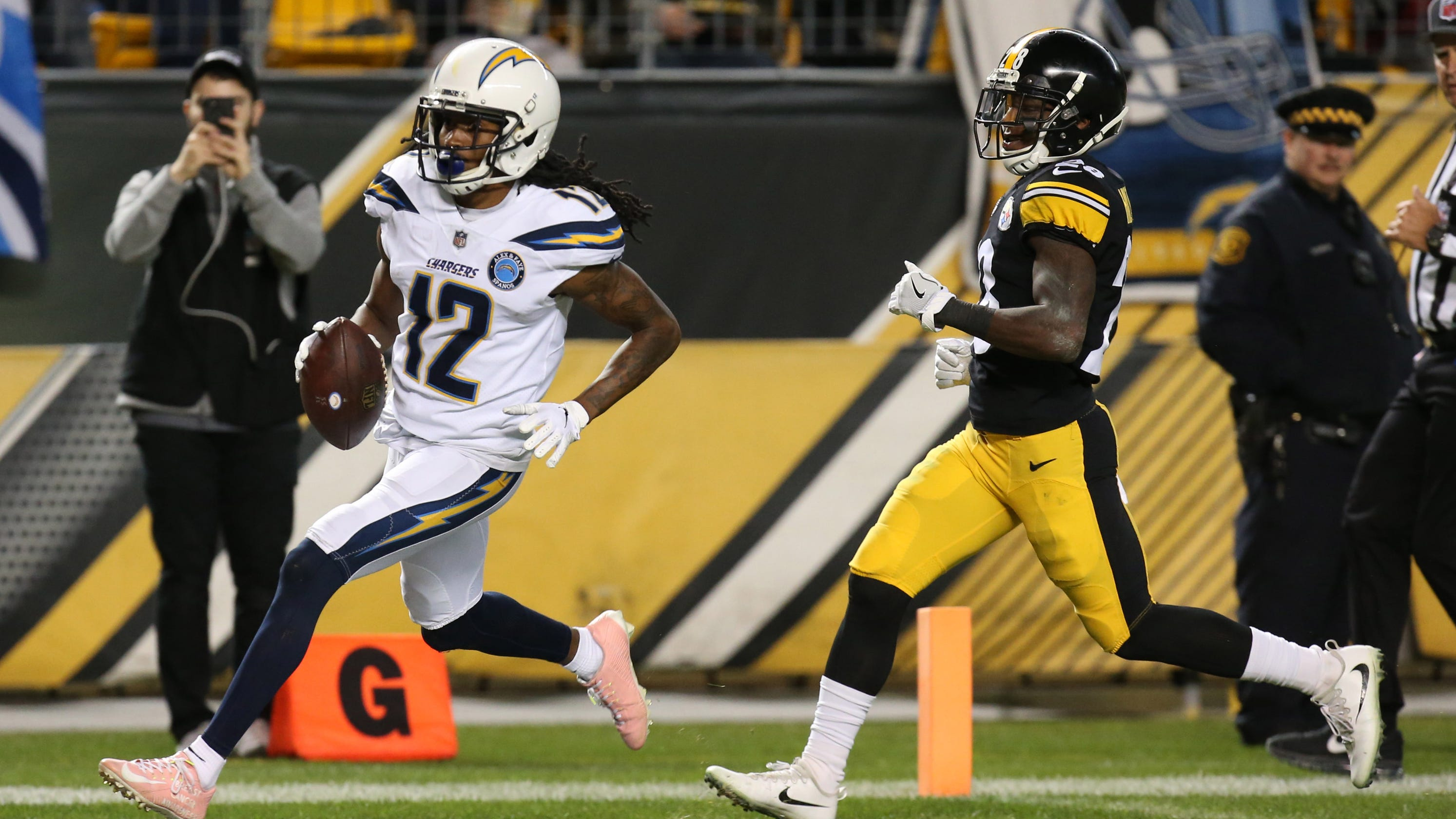 4dcfdfc17 Steelers pay for late errors as Chargers storm back for win