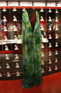 The most famous Grammy Awards dress of all time moved to the Grammy Museum after Lopez wore it.