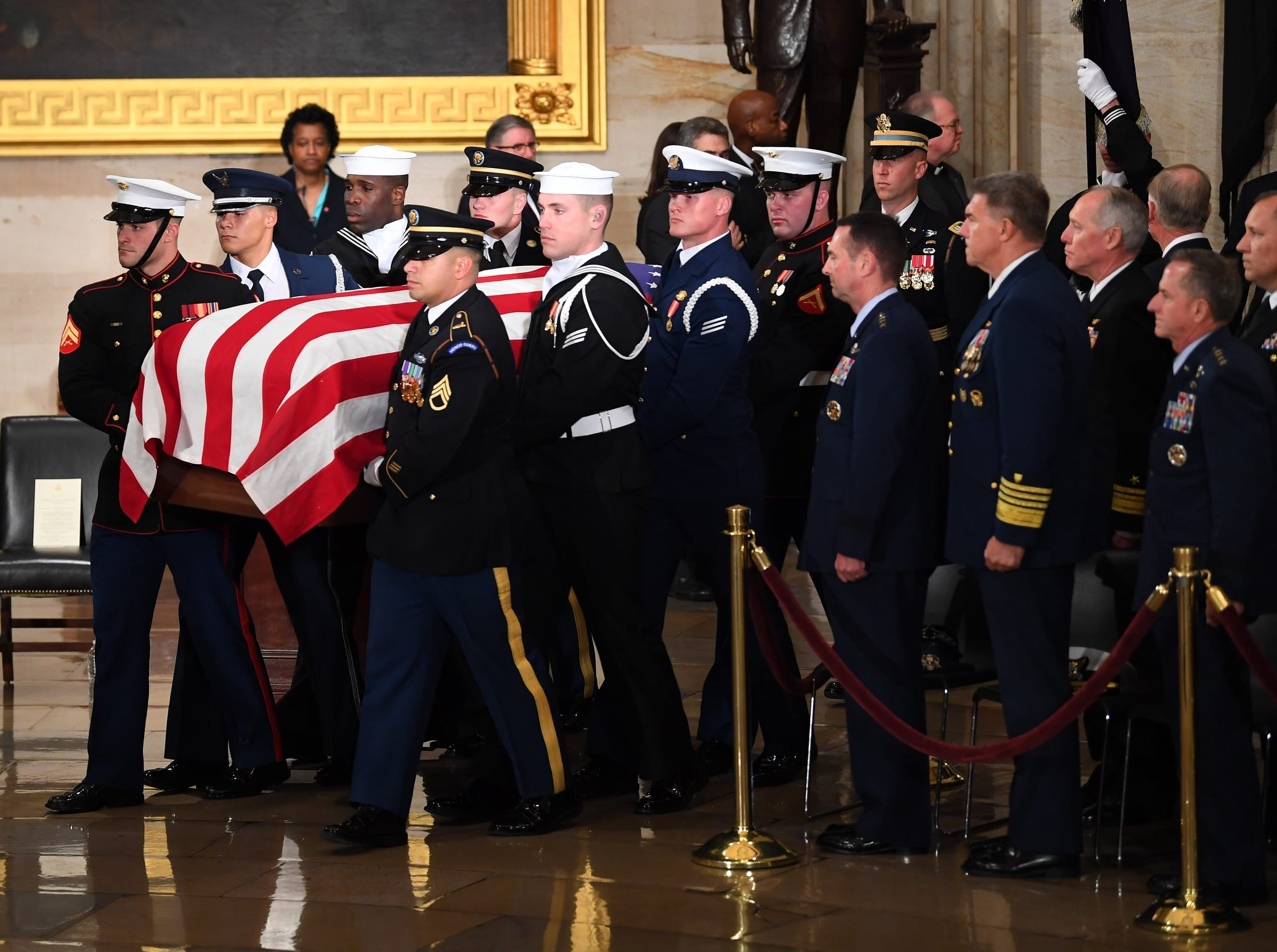The late president will lie in state until 7 a.m. Wednesday, Dec. 5, 2018.