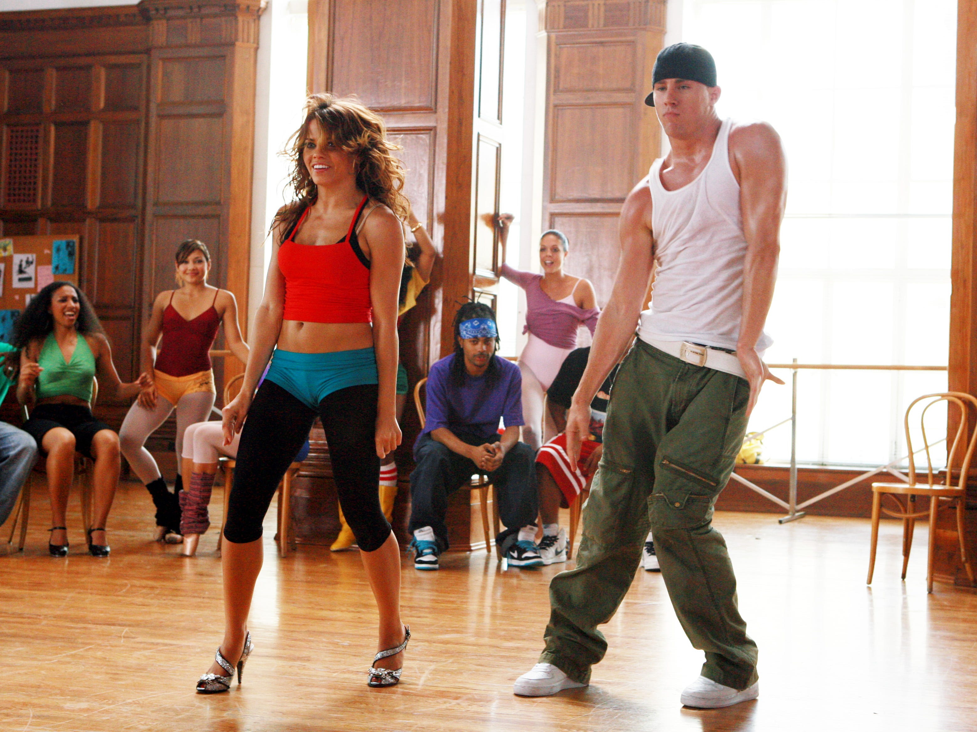 (L-R) Jenna Dewan and Channing Tatum in a scene from the motion picture Step up. --- DATE TAKEN: rec'd 07/06  By ERIC CHARBONNEAU   Disney        HO      - handout   ORG XMIT: ZX50554