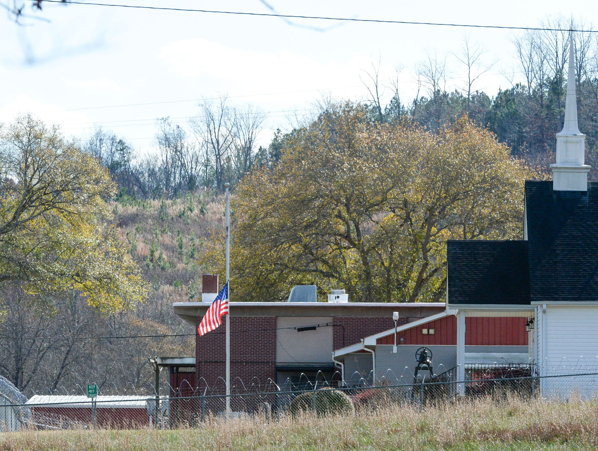 The Pickens County Prison, commonly called the stockade, on Prison Camp Road, where two inmates escaped Tuesday morning.