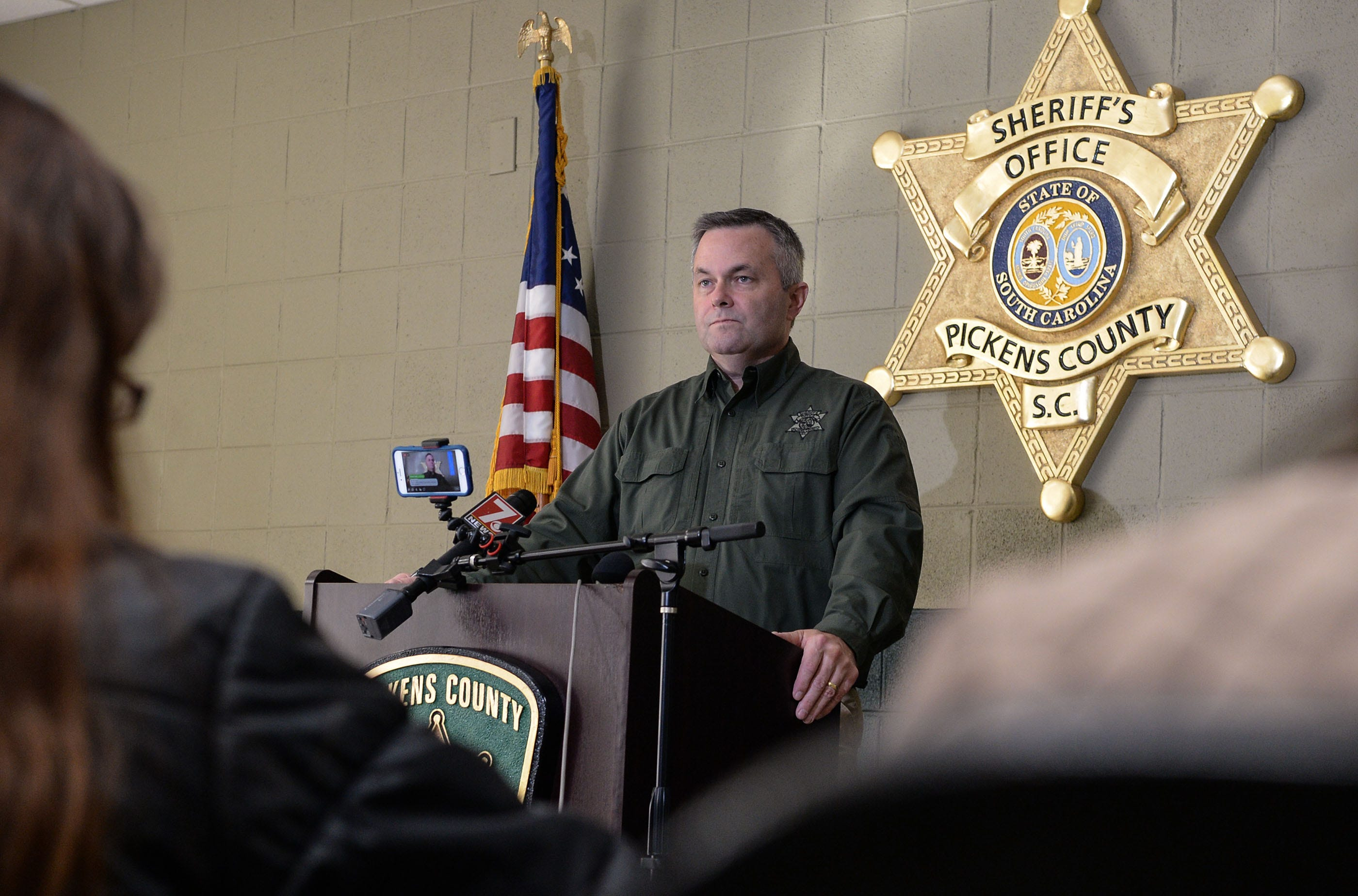 Pickens County inmate escape press conference with Sheriff