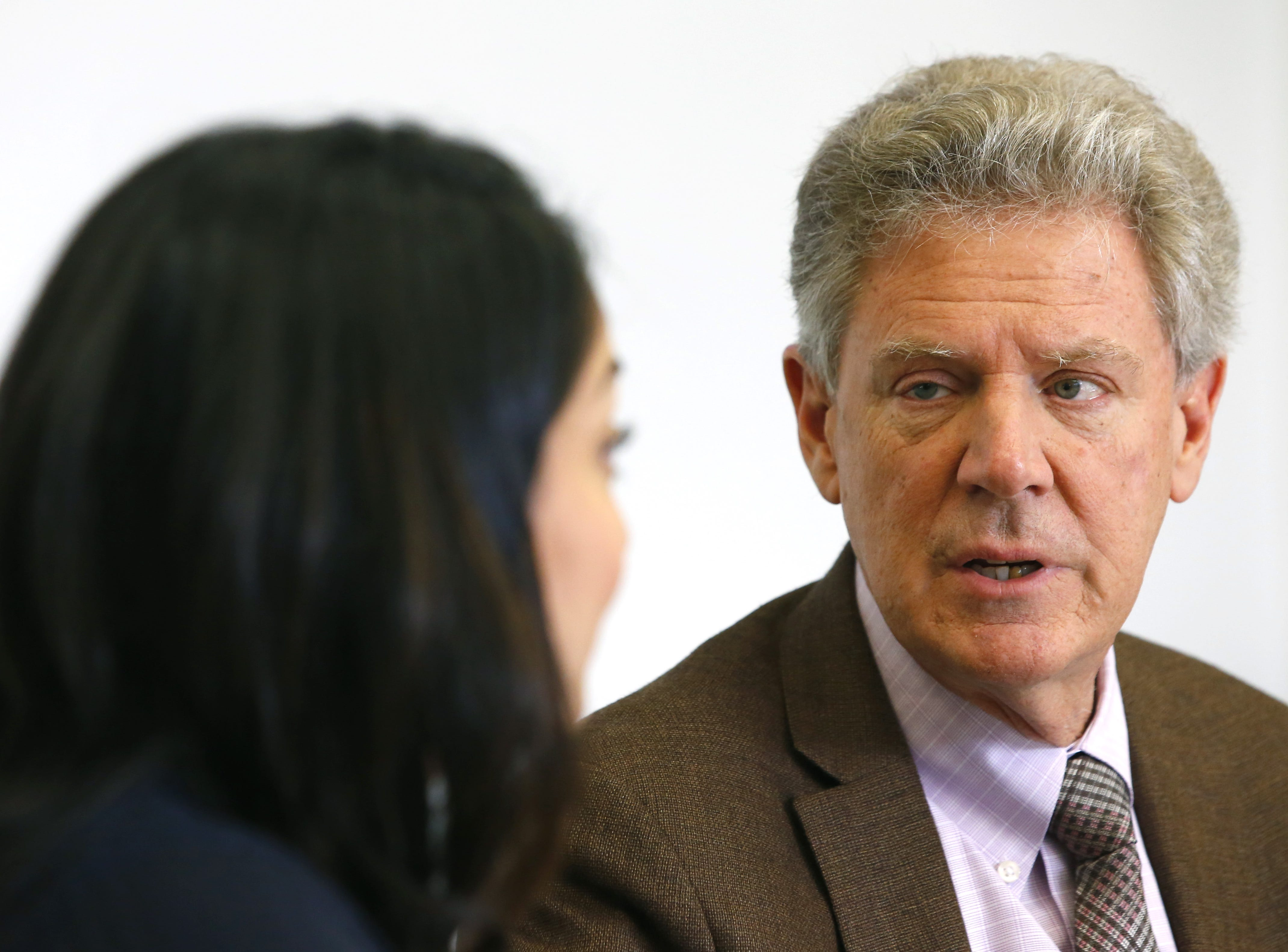 Ranking member of the House Energy and Commerce Committee, Rep. Frank Pallone, talks to hospital administrators during visit to Monmouth Medical Center in Long Branch, NJ.  Monday, December 3, 2018.