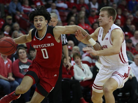 Ncaa Basketball Rutgers At Wisconsin