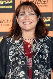 "Karen Allen poses during a photocall promoting ""Indiana Jones and the Kingdom of the Crystal Skull"" at a press conference at Grand Hyatt Tokyo on June 4, 2008 in Tokyo, Japan."
