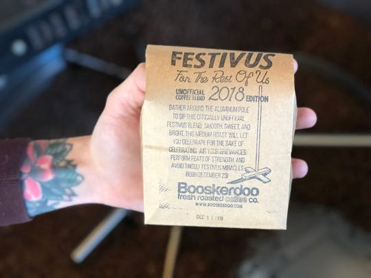 Treat the coffee lover on your list to Festivus For The Rest of Us, a limited-edition brew from Booskerdoo.