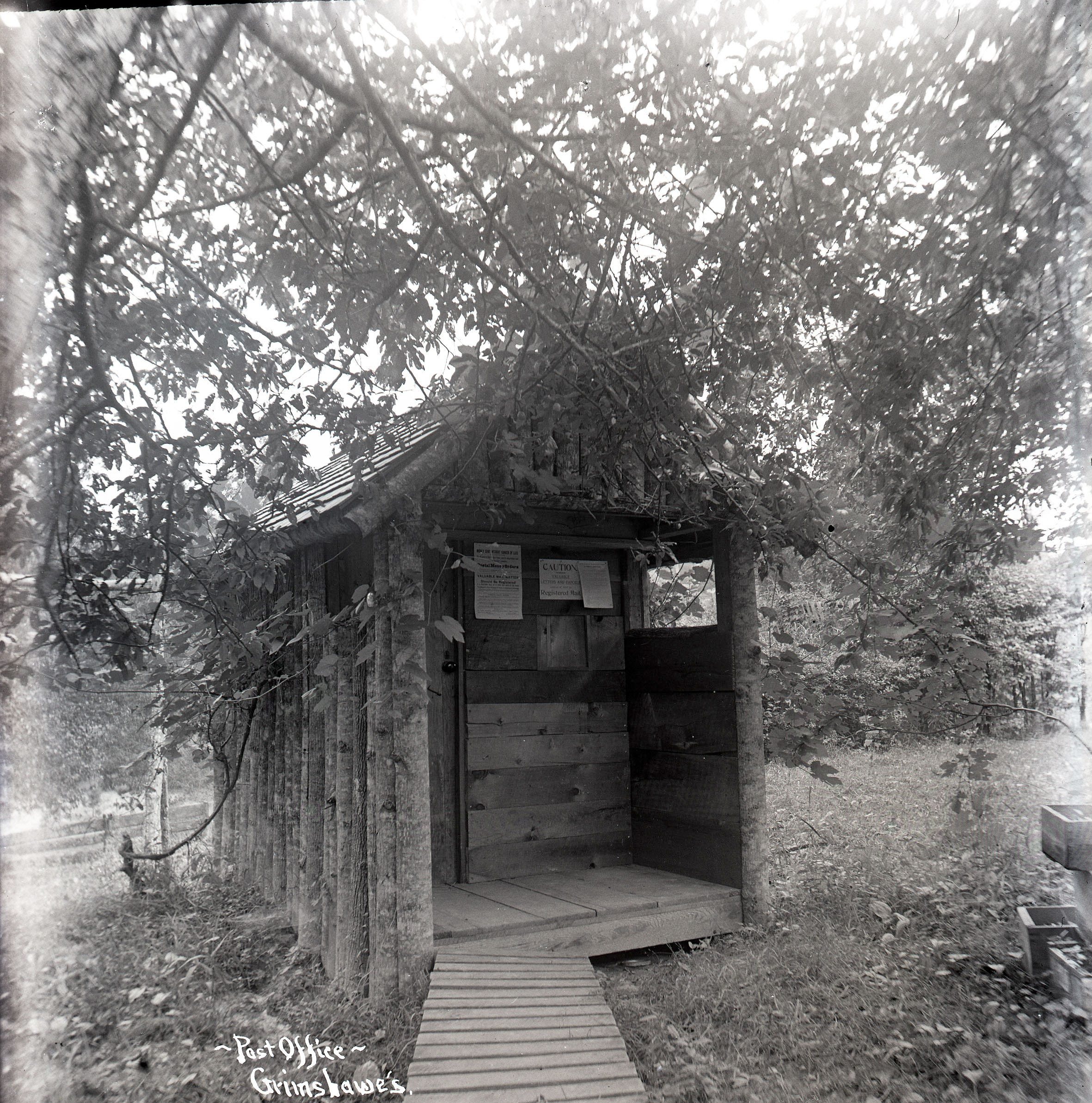 Portrait of the Past: America's smallest post office, circa 1909