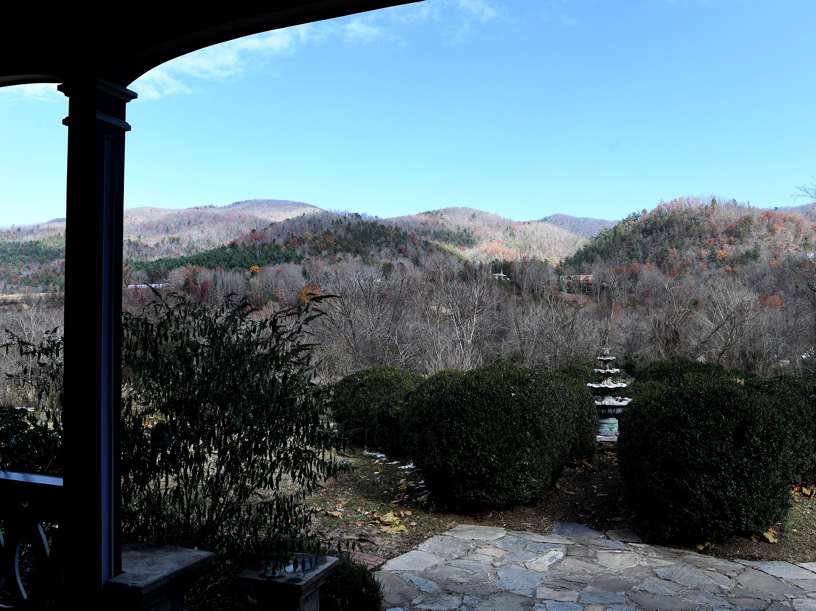 Visitors need only walk to the porch of the Mountain Magnolia Inn in Hot Springs for a spectacular mountain view.