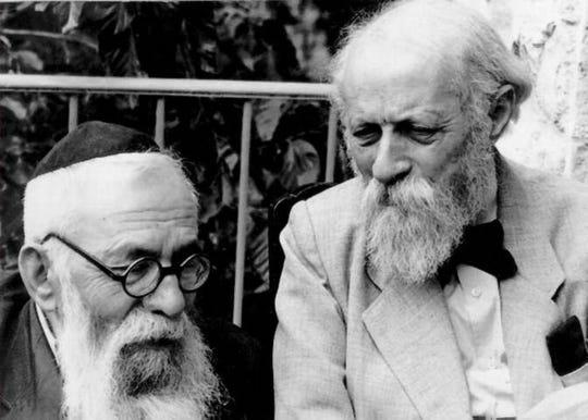 Martin Buber, right, and Rabbi Binyamin in Palestine in the 1920s.