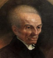 This is a detail from a portrait by James Jackson, probably near the time of Asbury's death at age 71 in 1816. The image is from Worthopedia.