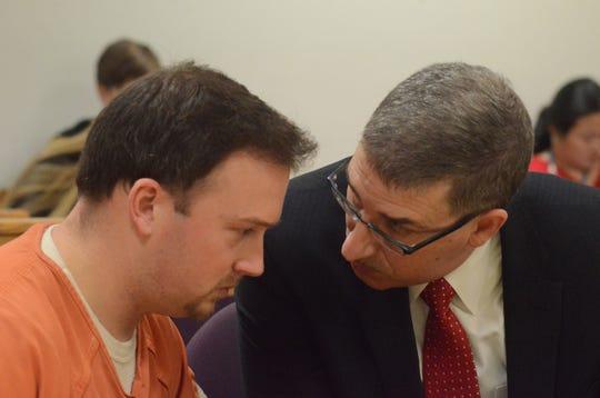 Tyler Millward and his attorney, Anastase Markou