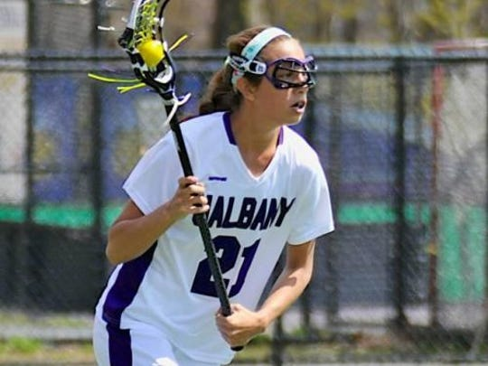 Whitney Corby played lacrosse at SUNY at Albany.