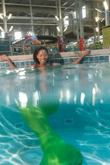 Mermaid lessons are open for guests of all ages at Kalahari Resorts and Conventions in the Pocono Mountains, Pennsylvania.